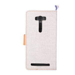 Jeans puzdro pre mobil Asus Zenfone 2 Laser - biele - 3