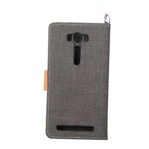 Jeans puzdro na mobil Asus Zenfone 2 Laser - čierne - 3