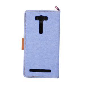 Jeans puzdro na mobil Asus Zenfone 2 Laser - svetlomodré - 3