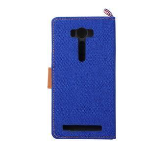 Jeans puzdro pre mobil Asus Zenfone 2 Laser - tmavomodré - 3