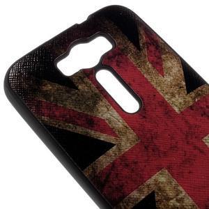 Gélový obal s koženkovým chrbtom na Asus Zenfone 2 Laser - UK vlajka - 3
