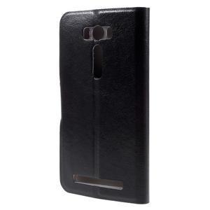 Horse puzdro pre mobil Asus Zenfone 2 Laser - čierne - 3