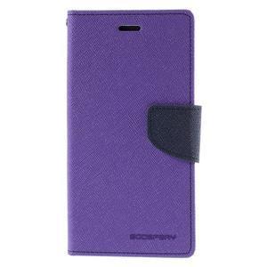 Diary štýlové puzdro na Asus Zenfone 2 Laser - fialové - 3