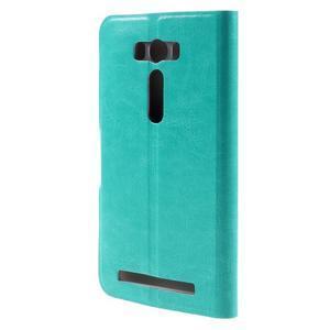 Horse puzdro pre mobil Asus Zenfone 2 Laser - zelenomodré - 3