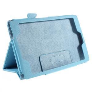 Koženkové puzdro na tablet Asus ZenPad 7.0 Z370CG - svetlomodrý - 3