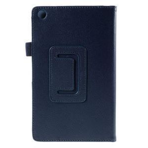 Koženkové puzdro pre tablet Asus ZenPad 7.0 Z370CG - tmavomodré - 3