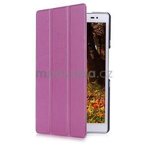 Trojpolohové puzdro na tablet Asus ZenPad 8.0 Z380C - fialové - 3
