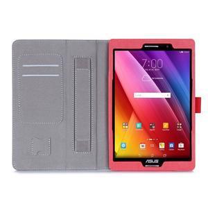 Polohovatelné koženkové puzdro pre tablet Asus ZenPad S 8.0 -  červené - 3