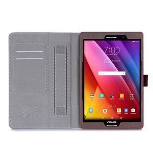 Polohovatelné koženkové puzdro pre tablet Asus ZenPad S 8.0 -  hnedé - 3