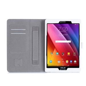 Polohovatelné koženkové puzdro na tablet Asus ZenPad S 8.0 - biele - 3