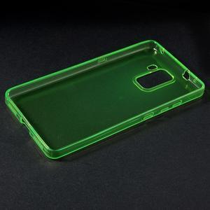 Transparentný gélový obal pre telefón Honor 7 - zelený - 3