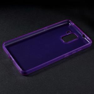 Transparentný gélový obal na telefón Honor 7 - fialový - 3