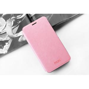 Koženkové puzdro na mobil Honor 7 - ružové - 3