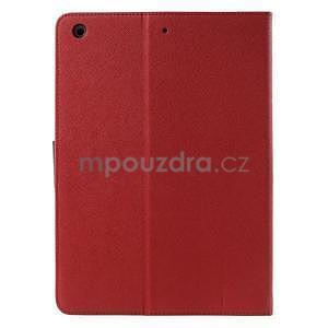 Diary peňaženkové puzdro pre iPad Air - červené - 3
