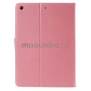 Diary peňaženkové puzdro pre iPad Air - ružové - 3