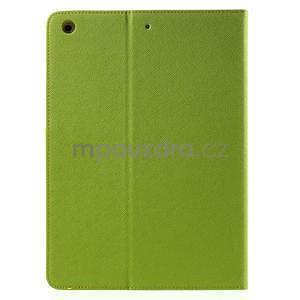 Diary peňaženkové puzdro na iPad Air - zelené - 3