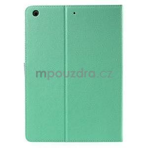 Diary peňaženkové puzdro na iPad Air - azúrové - 3
