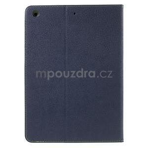 Diary peňaženkové puzdro na iPad Air - tmavomodré - 3