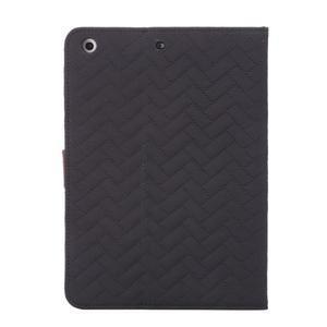 Texture luxusné puzdro pre iPad Mini 3, iPad Mini 2 a iPad Mini - čierne - 3