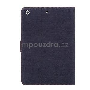 Jeans luxusné puzdro pre iPad Mini 3, iPad Mini 2 a iPad Mini - čiernomodré - 3
