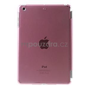 Classic troj polohové puzdro pre iPad Mini 3, ipad Mini 2 a na iPad Mini -  ružové - 3
