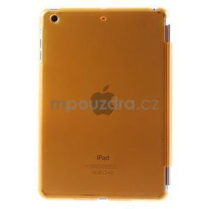 Classic troj polohové puzdro pre iPad Mini 3, ipad Mini 2 a na iPad Mini -  oranžová - 3