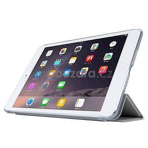 Lines polohovateľné puzdro pre iPad Mini 3 / iPad Mini 2 / iPad mini - sivé - 3