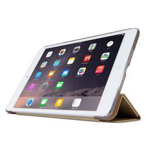 Lines polohovateľné puzdro pre iPad Mini 3 / iPad Mini 2 / iPad mini - zlaté - 3