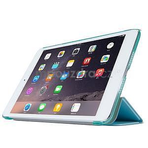 Lines polohovateľné puzdro na iPad Mini 3 / iPad Mini 2 / iPad mini - cyan - 3
