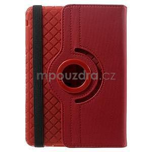 Circu otočné puzdro na Apple iPad Mini 3, iPad Mini 2 a ipad Mini - červené - 3
