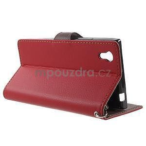 Supreme peňaženkové puzdro na Lenovo P70 - červené/hnedé - 3