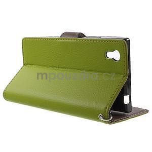 Supreme peňaženkové puzdro pre Lenovo P70 - zelené/hnedé - 3