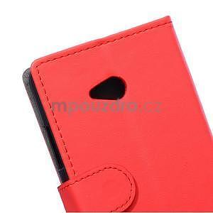 Ochranné peňaženkové puzdro Microsoft Lumia 640 - červené - 3