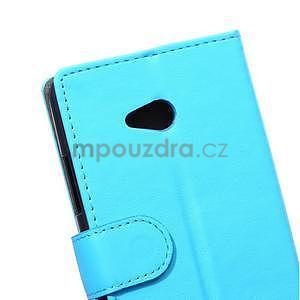 Ochranné peňaženkové puzdro Microsoft Lumia 640 - modré - 3