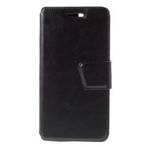 Peňaženkové PU kožené puzdro pre mobil Doogee X5 - čierne - 3