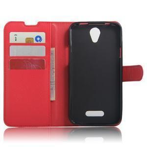 Peněženkové pouzdro na mobil Doogee X6 - červené - 3