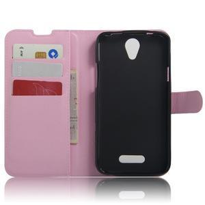 Peňaženkové puzdro pre mobil Doogee X6 - ružové - 3