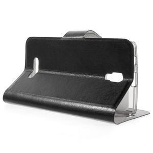 Horse peňaženkové puzdro pre Lenovo A2010 - čierné - 3