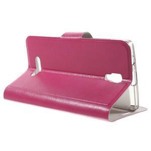 Horse peňaženkové puzdro pre Lenovo A2010 - rose - 3
