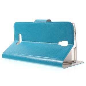Horse peňaženkové puzdro pre Lenovo A2010 - modré - 3
