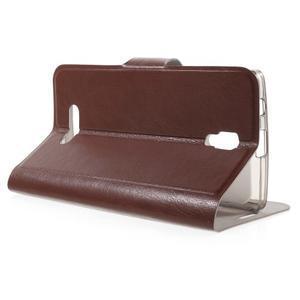 Horse peňaženkové puzdro pre Lenovo A2010 - hnedé - 3