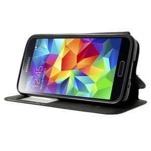 Peňaženkové puzdro s okienkom pro Samsung Galaxy S5 mini -  čierne - 3