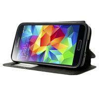 Peňaženkové puzdro s okienkom pro Samsung Galaxy S5 mini -  čierne - 3/7