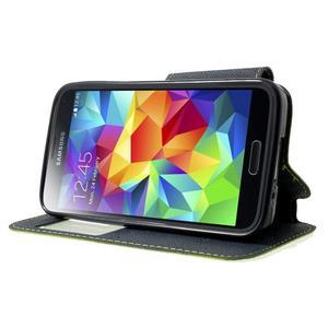 Pěněženkové pouzdro s okýnkem pro Samsung Galaxy S5 mini -  zelené - 3