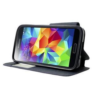 Peňaženkové puzdro s okienkom pro Samsung Galaxy S5 mini -  fialové - 3