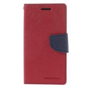 Mr. Fancy koženkové puzdro pre Samsung Galaxy A5 - červené - 3