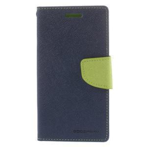Mr. Fancy koženkové puzdro na Samsung Galaxy A5 - tmavo modré - 3