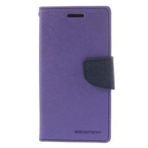 Mr. Fancy koženkové puzdro pre Samsung Galaxy A5 - fialové - 3