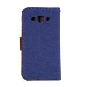 Jeans peňaženkové puzdro na Samsung Galaxy note 3 - tmavo modré - 3