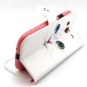Peňaženkové puzdro pre mobil Samsung Galaxy S3 - mačička - 3